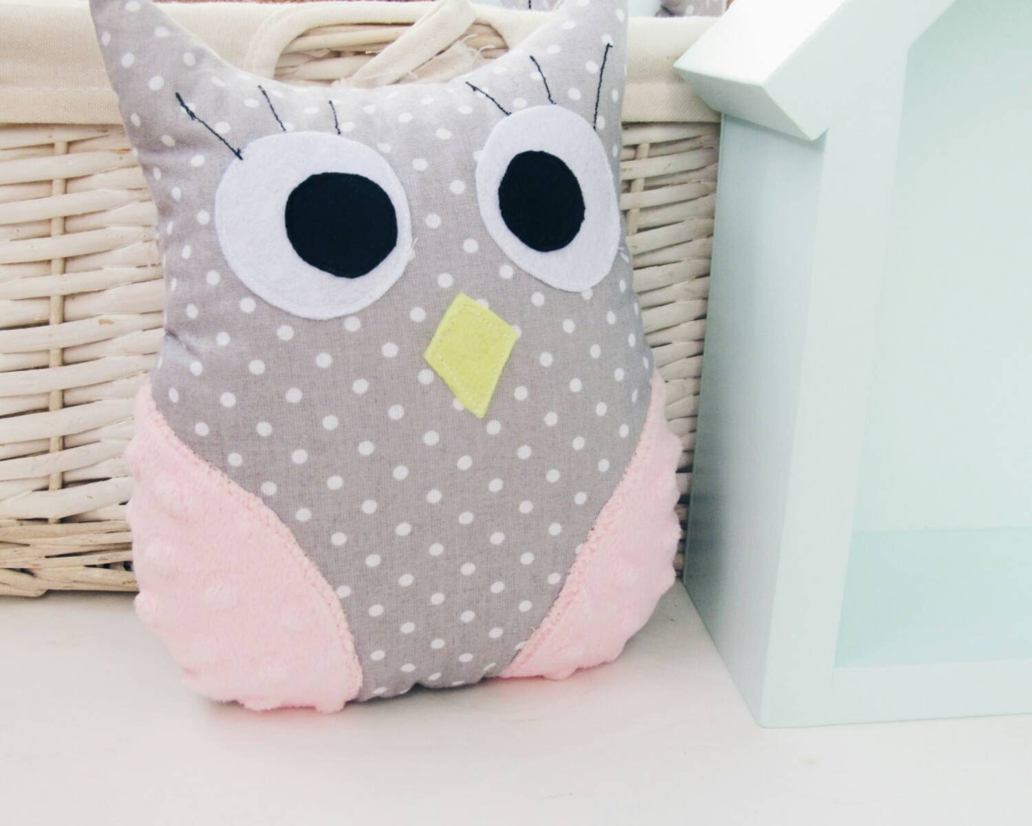 Handmade Owl Kids Room Decor Stuffed Animal Plush Owl New