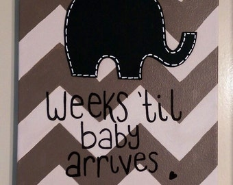 Bespoke Due Date Countdown Canvas