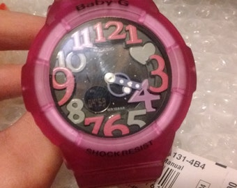 Women's Pink Analog & Digital BabyG Casio BGA 131