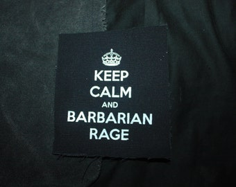 """Barbarian Rage 5"""" Patch"""