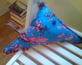 Hello World - triangle chakra balancing pillow