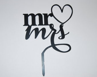 Mr and Mrs cake topper, Wedding cake topper, Anniversary cake topper, love cake topper.