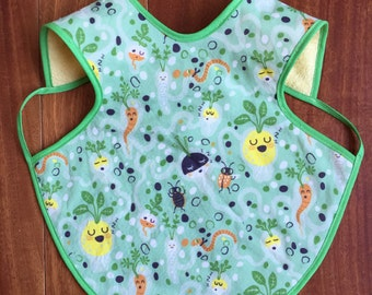 Baby Apron - Sleeping Vegetables