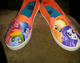 Equestria Girls, painted shoes, My Little Pony, Canvas shoes
