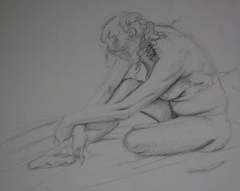 Life Drawing Woman Seated