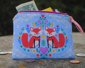 Fox and Owl Coin Purse