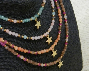 """Natural stone necklaces """"You"""