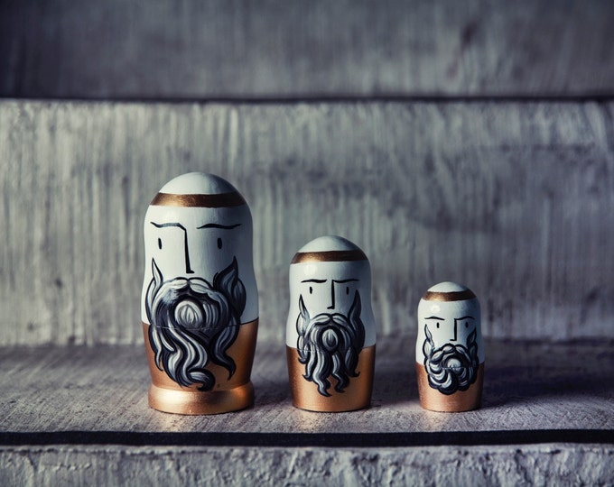 "Nesting Dolls / Matryoshkas "" The Big Three"" Greek Philosophers"