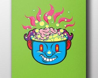Hot Head  - 11 x 17 inches