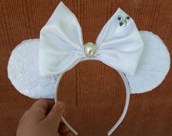 Disney Bride ears headband- with or without veil