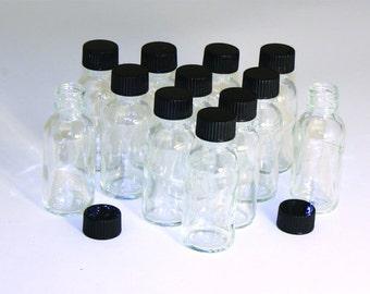 1 oz. Glass Bottles - Set Of 24