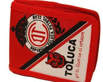Diablos del Toluca Mexico Soccer Wallet-Billetera- Toluca Soccer Team Wallet