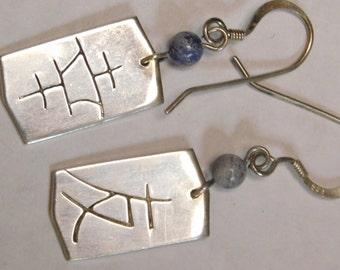 Vintage Handmade Sterling Silver Earrings