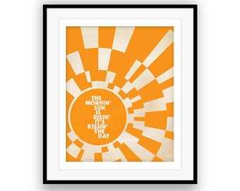 Wheel in the Sky / Journey Band - Song Lyrics Art, music poster, song quote, lyric inspiration, Steve Perry, graduation, home decor