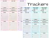 Health Tracker Sidebar Stickers (planner stickers)