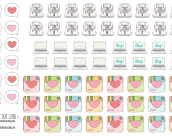 Social Media Stickers (planner stickers)