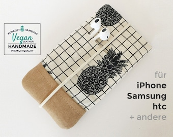 Samsung / iPhone Phone Case with vegan leather