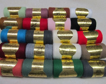 20 Gold Label Pretty Punch Needle Embroidery Threads Assorted Colors