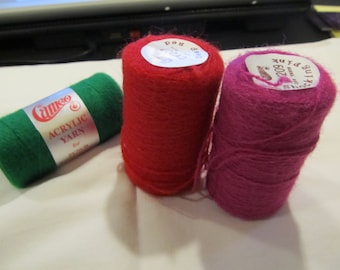3 Rare  New Cameo  Punch Needle Embroidery Thread ~