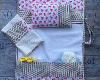 "Changing table changing ""pink rock"" boy/girl 100% cotton"