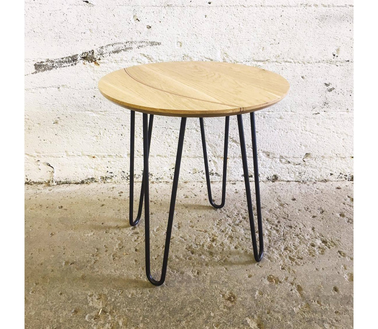 grogg side table i small table living room table entryway entrance table metal steel legs hairpin legs wood table