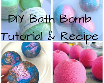 DIY Bath Bomb Recipe & Tutorial