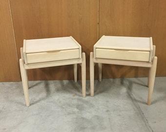 SALE Mid century bedside tables i beech danish design