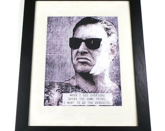 Mike Ness Quote Canvas Art Print Framed Or Unframed
