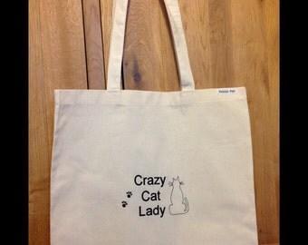 Crazy Cat  lover, tote bag