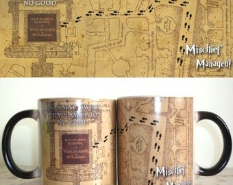 Harry Potter - mischief managed mug color changing coffee mug