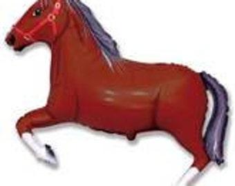 "Horse Balloon, Pony Balloon, Brown Horse Balloon, Party Decoration, Birthday Party, Animal Theme Party, Horse Show, Animal Fund Raiser, 42"""