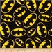 Batman fabric - batman logo - warner brothers  - marvel comic fabric - material - sewing supply -notion - bty - 1 yard