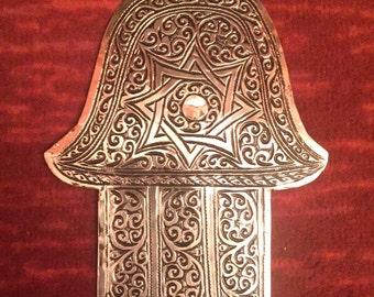 Small Hand of Fatima / Hamsa berber silver wall hanging charm