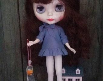 Orange fish in bag for Blythe & Dolls