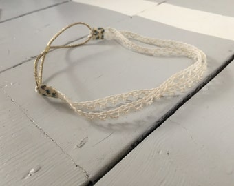 French vintage lace headband