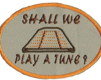 Hammered Dulcimer Shall We Play A Tune? Iron On Patch