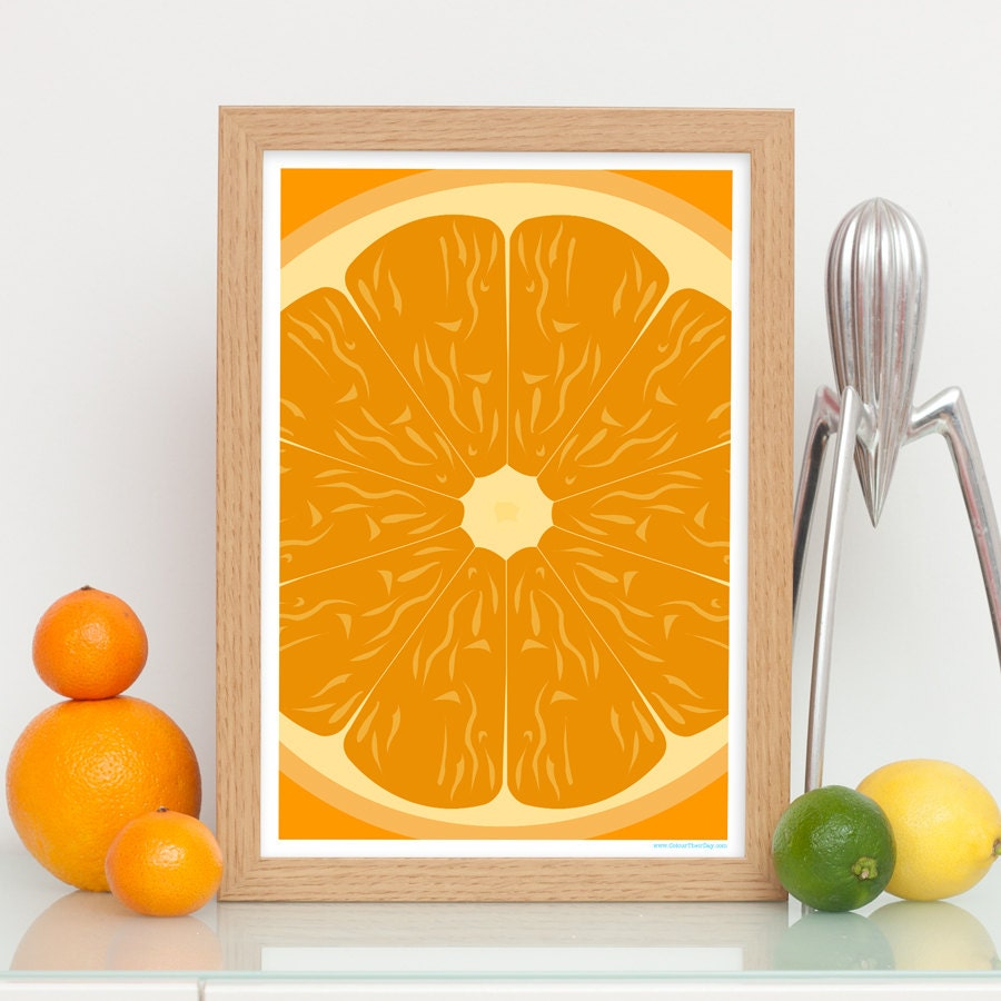 Quirky Kitchen Artwork: Quirky Art Print / Home Decor Colourful Wall Art / Print