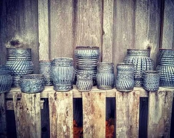 Lots of 3. Wedding candle holders, wedding favors, luminaries, tin can lanterns! Rustic wedding centerpiece. Country. Bohemian wedding. Sale