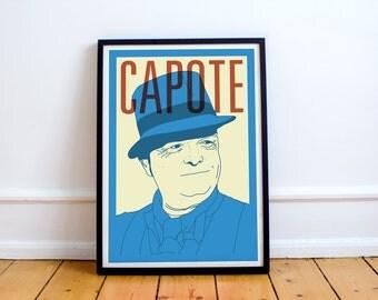 Capote Print! Truman Capote Poster,Breakfast at Tiffany's, in cold blood, harper lee, books