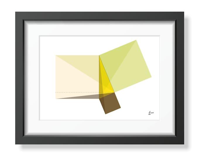 Pythagoras 07 [mathematical abstract art print, unframed] A4/A3 sizes