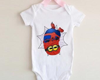 LoNyatanee Spiderman Minion Onesie Baby Onesie Bodysuit Kids Clothing