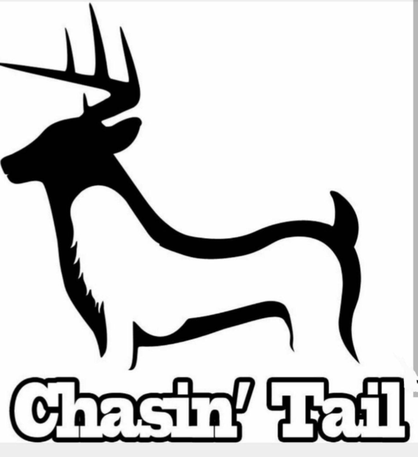 Hunting and fishing chasin 39 tail decal 6x6 by hannahsvinyl for Hunting and fishing decals