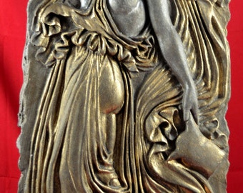 Muse or Maenad Wall Relief greek mythology