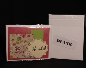Handmade Thank You Card with Envelope