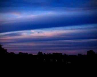Blue Layered Sunset