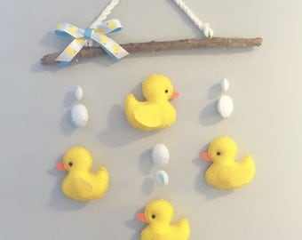 Rubber Duckie Driftwood Mobile