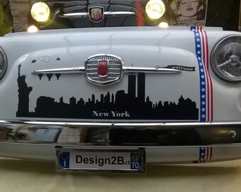 Fiat fron end New York sky line with led lights