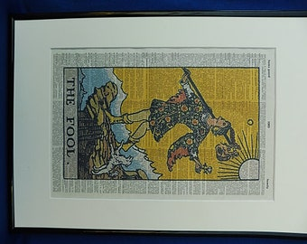 Fool Tarot Card Print No.65, tarot deck, tarot poster, tarot reading, tarot card deck, girlfriend gift, boyfriend gift, the fool