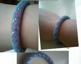 Purple handmade bracelet
