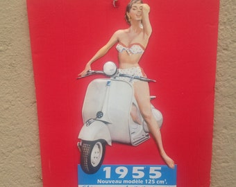 Retro scooter sign